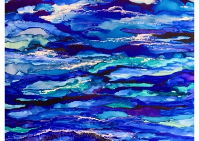 Blue Ocean Waves- 8.5x14""