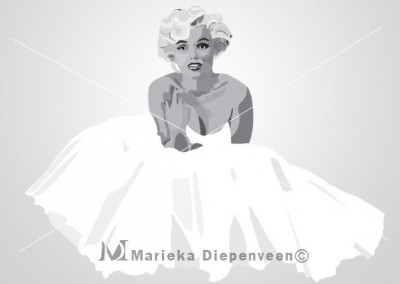 Marylin-graphic-illustration