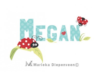 lady-bug-megan-name-print