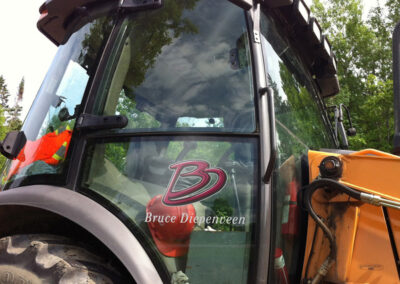 Brand Identity BD-Backhoe Decal